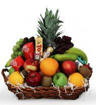 Avas Flowers Fruit and Gourmet Basket