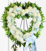 Blue Sympathy Heart Wreath