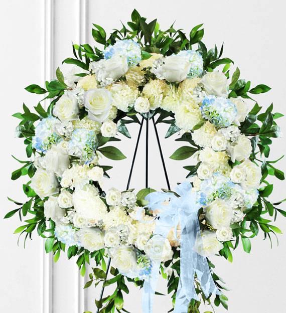 Blue Sympathy Wreath