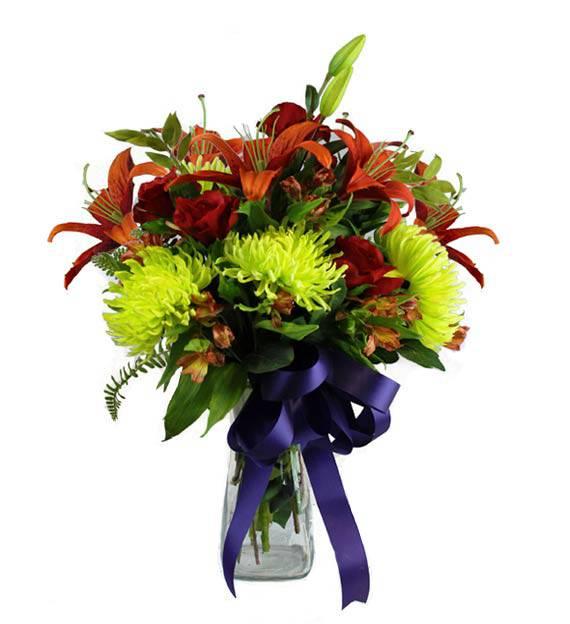 Colorful Sympathy Vase