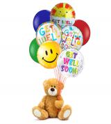 Get Well Bear and Balloon Bunch
