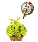 Get Well Flower Basket