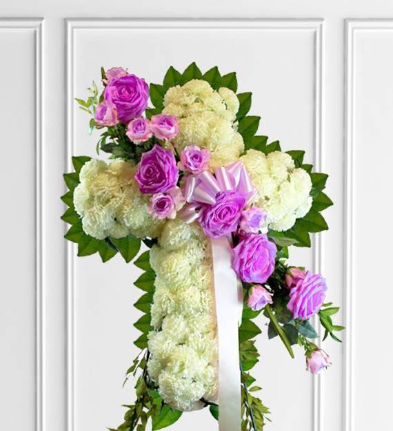 Lavender Sympathy Cross