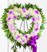 Lavender Sympathy Heart Wreath