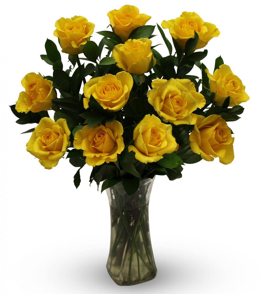 e Dozen Yellow Roses