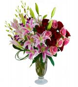 Opulent Roses and Lilies