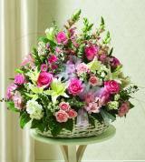 Pink & White Sympathy Basket