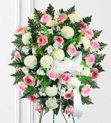 Pink & White Sympathy Spray