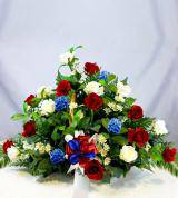 Red, White & Blue Sympathy Fireside Basket