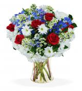 Red, White & Blue Sympathy Vase