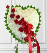 Red and White Sympathy Heart