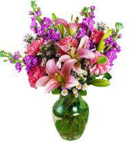 Too Beautiful Pink and Lavender Delight Bouquet