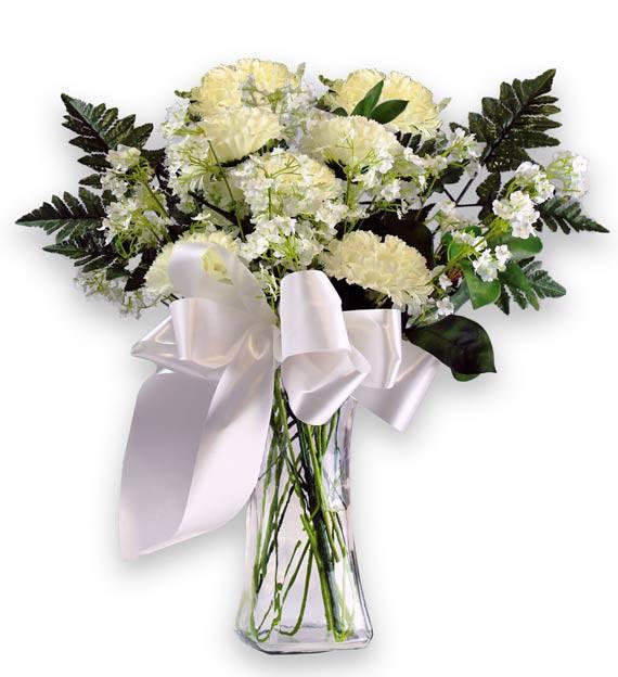 Sympathy White Carnations