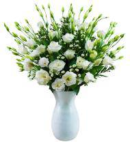White Lisianthus Sympathy Bouquet
