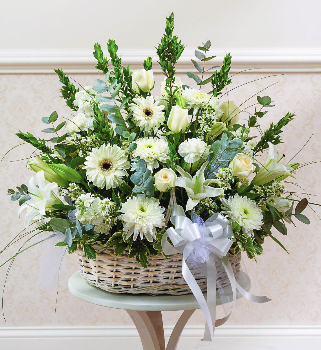 White Sympathy Basket
