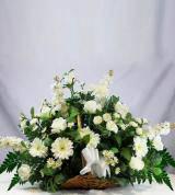 White Sympathy Fireside Basket