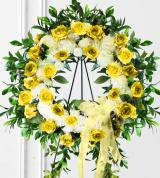 Yellow Sympathy Wreath